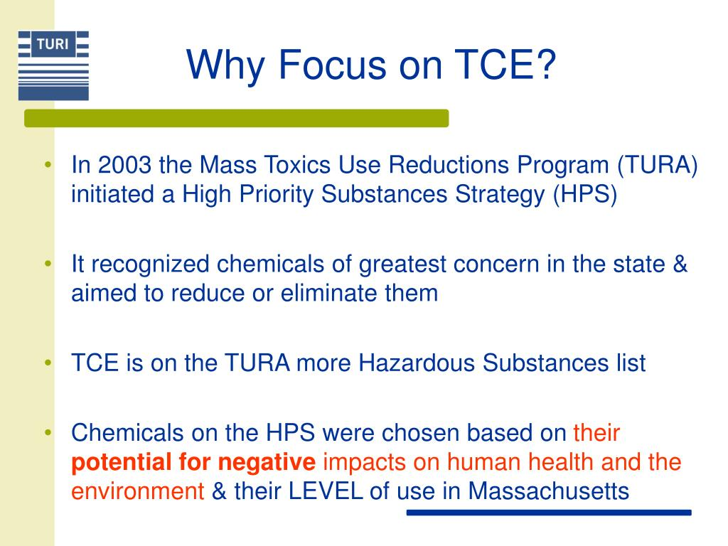 Why Focus on TCE?