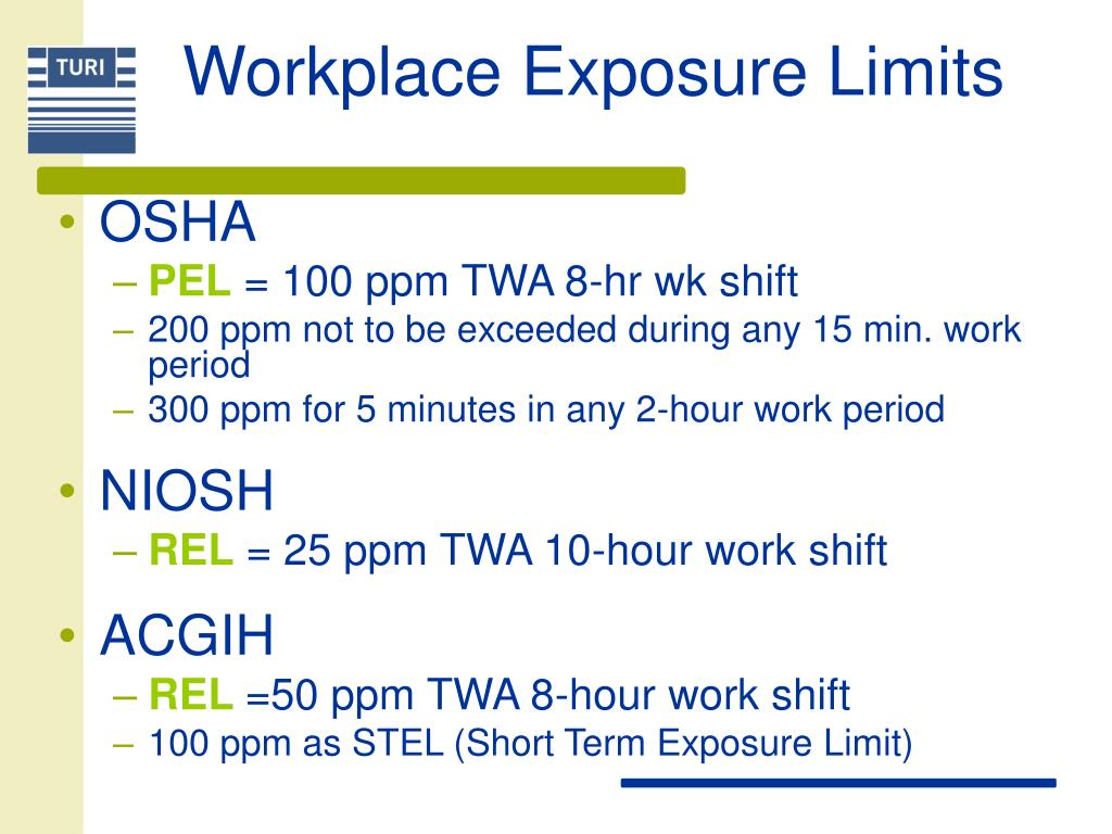 Workplace Exposure Limits