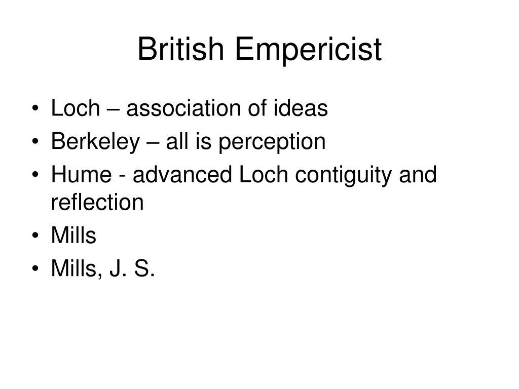 British Empericist