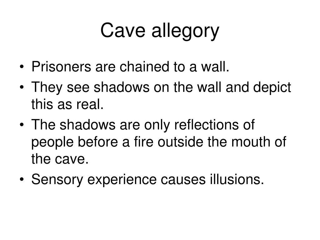 Cave allegory