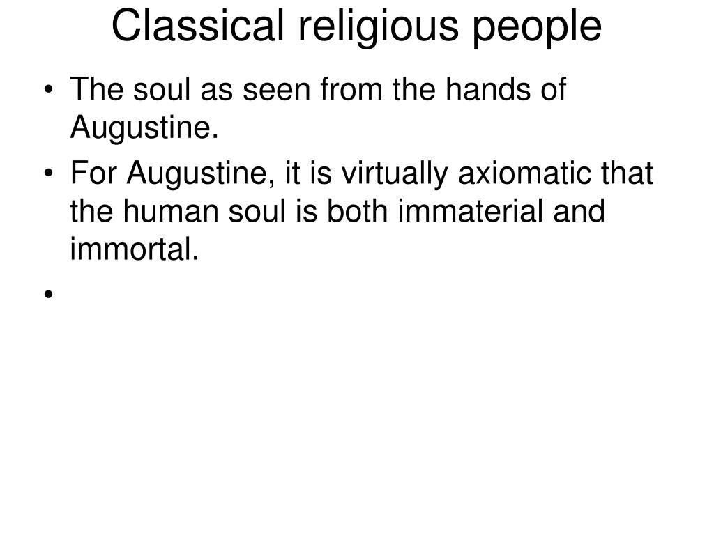 Classical religious people
