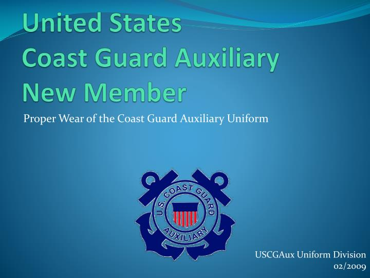 united states coast guard auxiliary new member n.