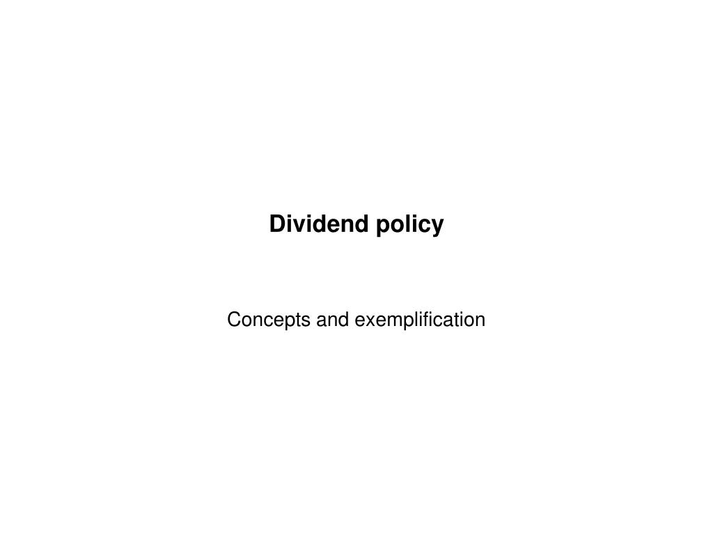 dividend policy l.