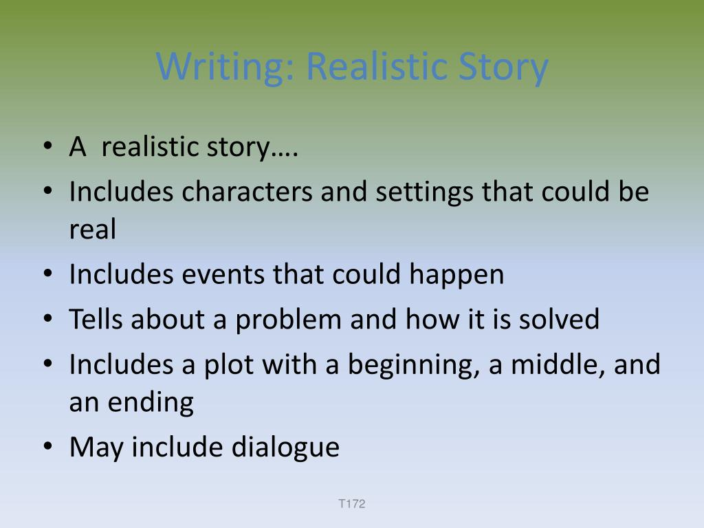 Writing: Realistic Story