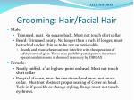 grooming hair facial hair