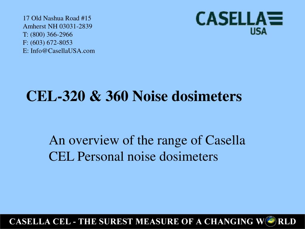 cel 320 360 noise dosimeters l.