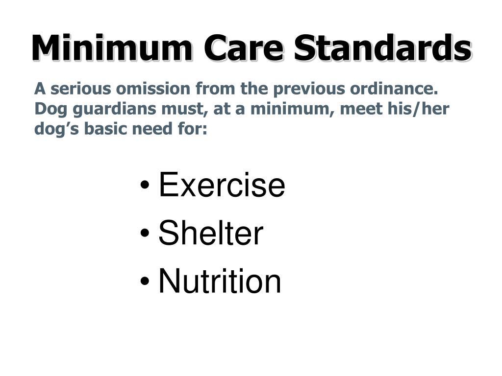 Minimum Care Standards