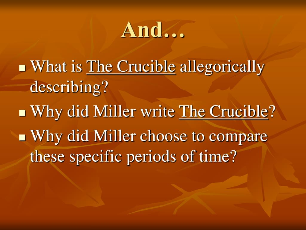 what the crucible can teach us United states canada teach miller's the crucible from beginning to end if your class is reading arthur miller's the crucible out lout, this handout can help.