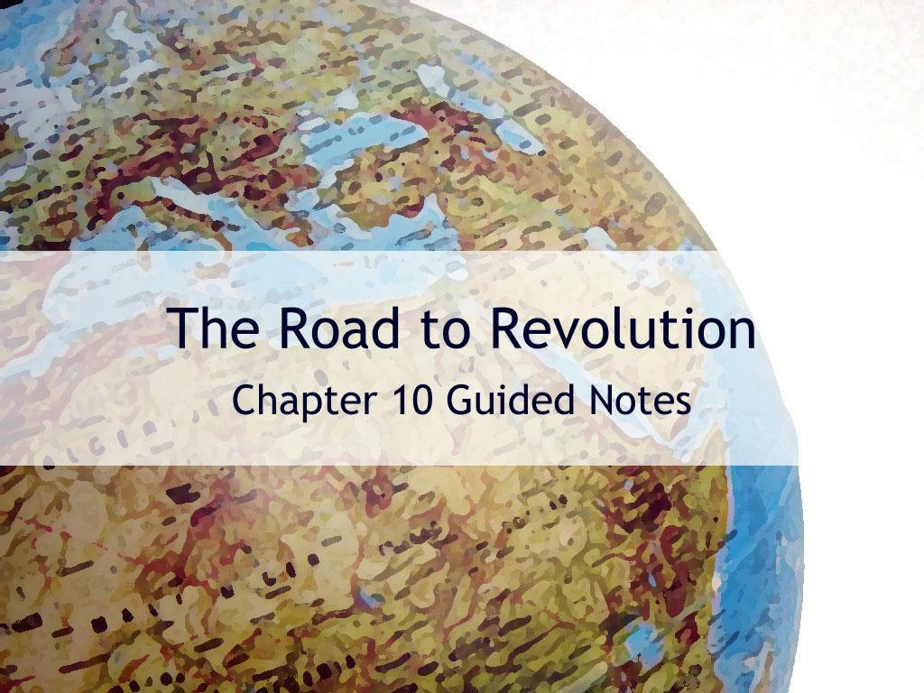 the road to revolution l.