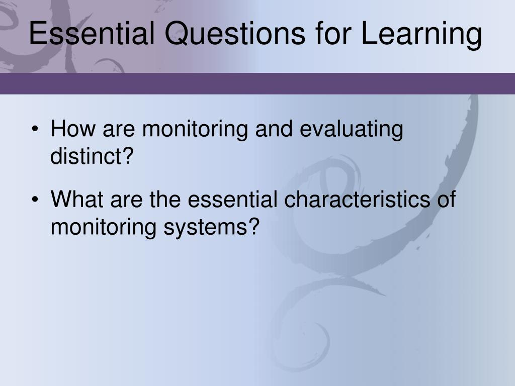 Essential Questions for Learning