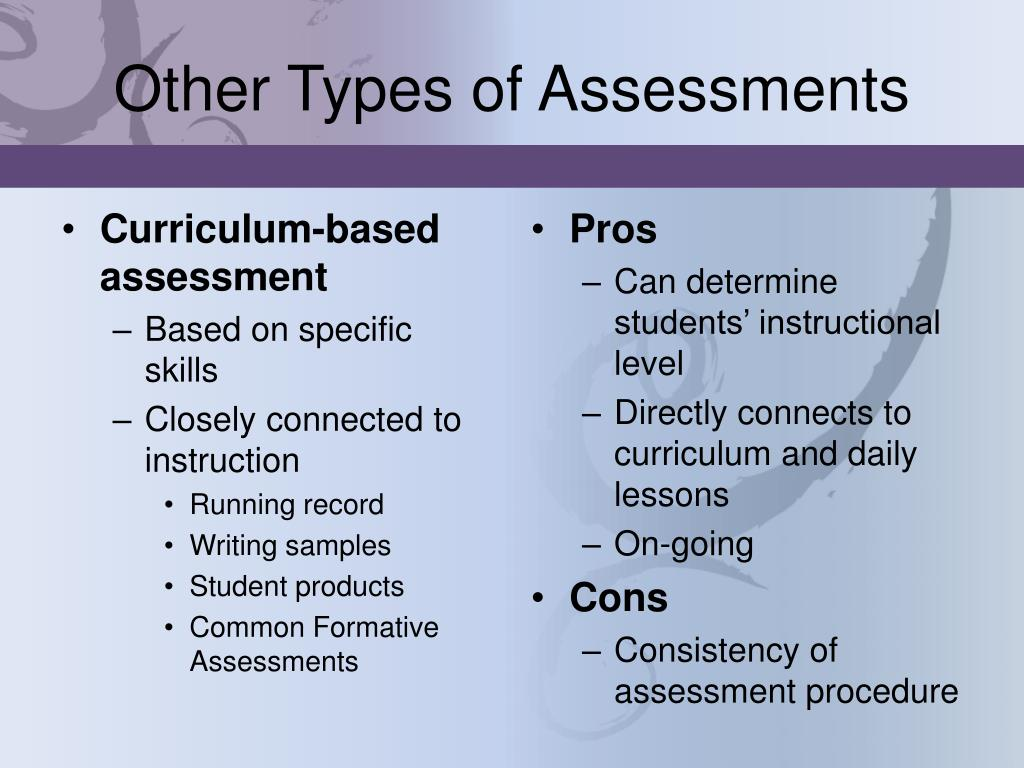 Other Types of Assessments