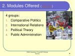 2 modules offered weblink