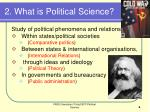 2 what is political science