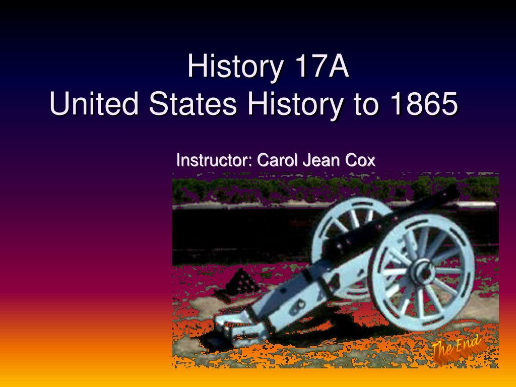 History 17A