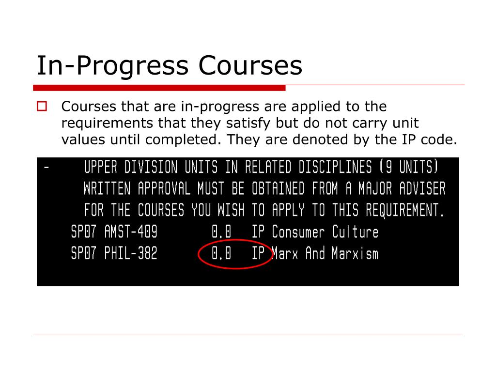 In-Progress Courses