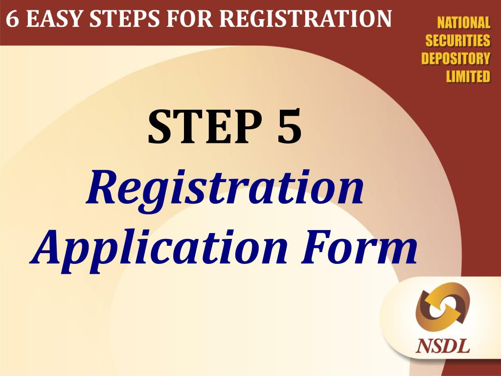 6 EASY STEPS FOR REGISTRATION