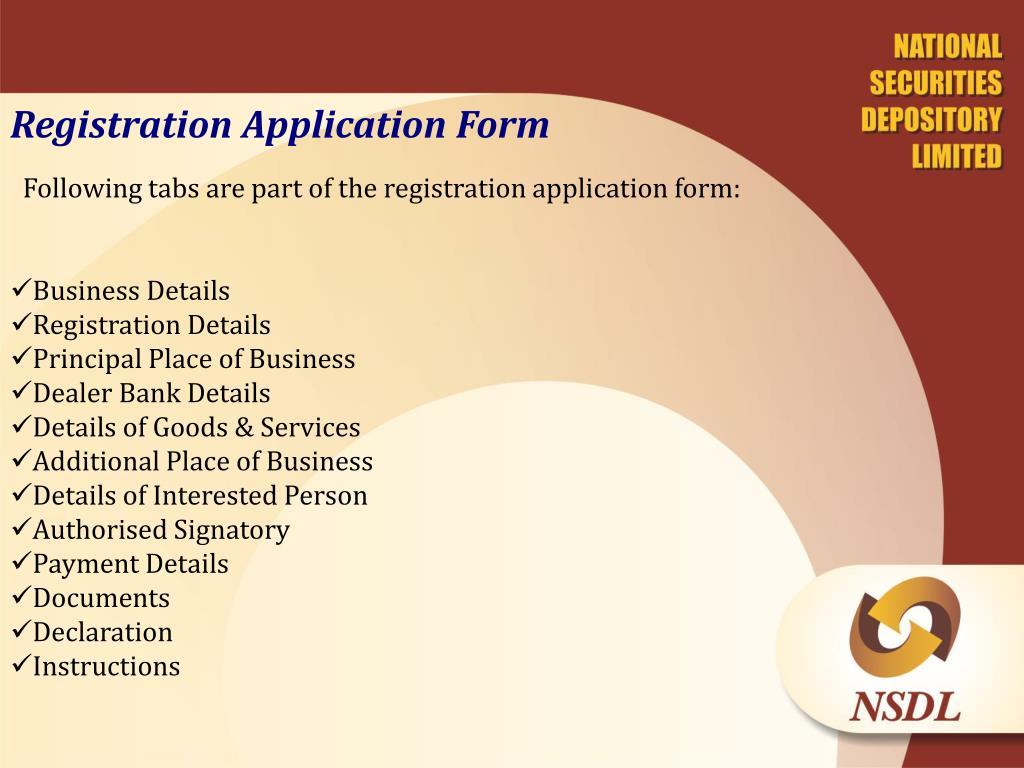 Registration Application Form