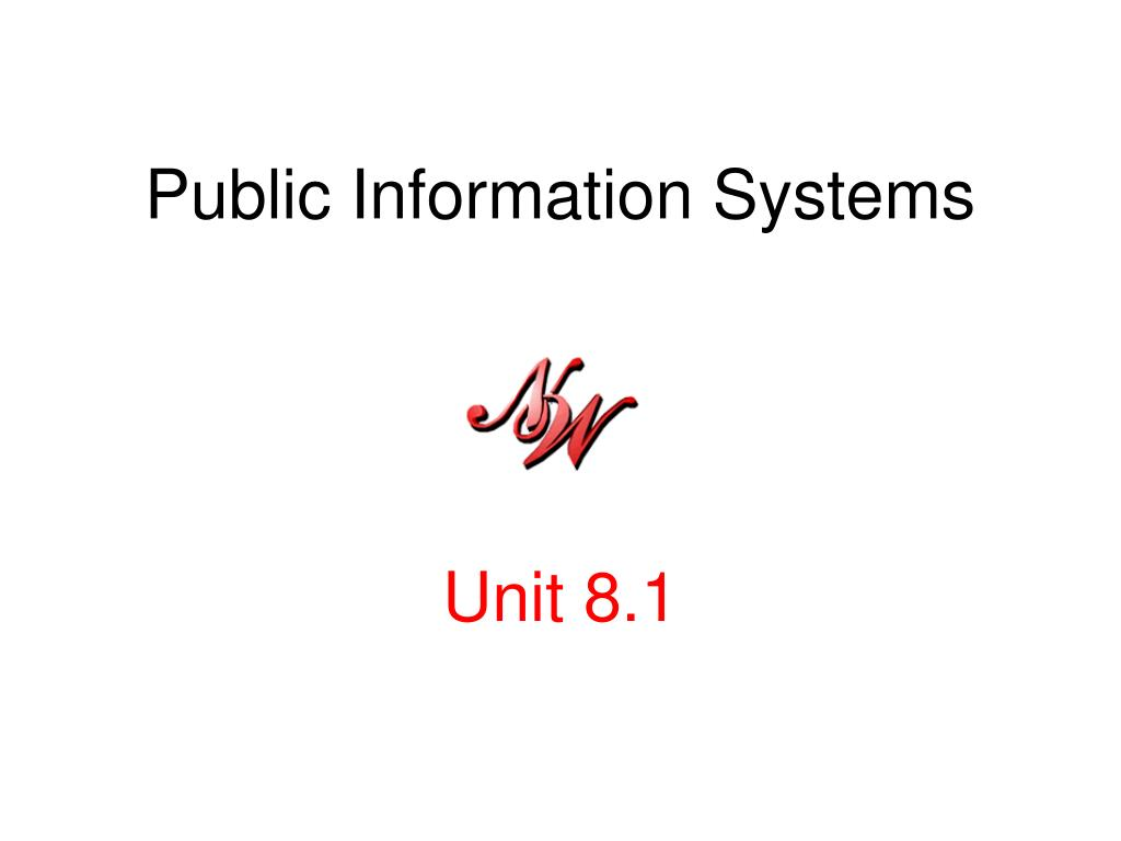 Public Information Systems