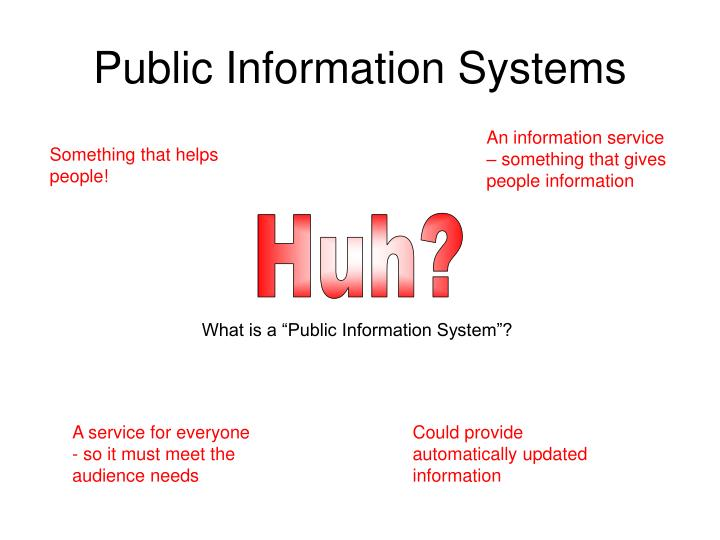 Public information systems3
