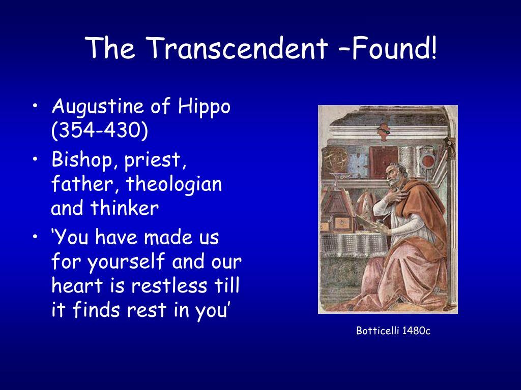 The Transcendent –Found!