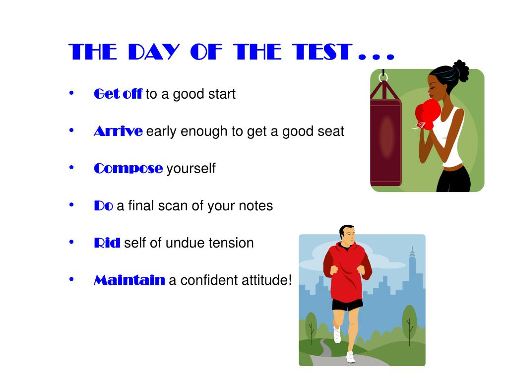 THE  DAY  OF  THE  TEST . . .