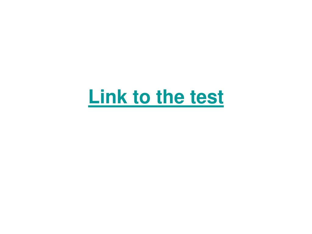 Link to the test