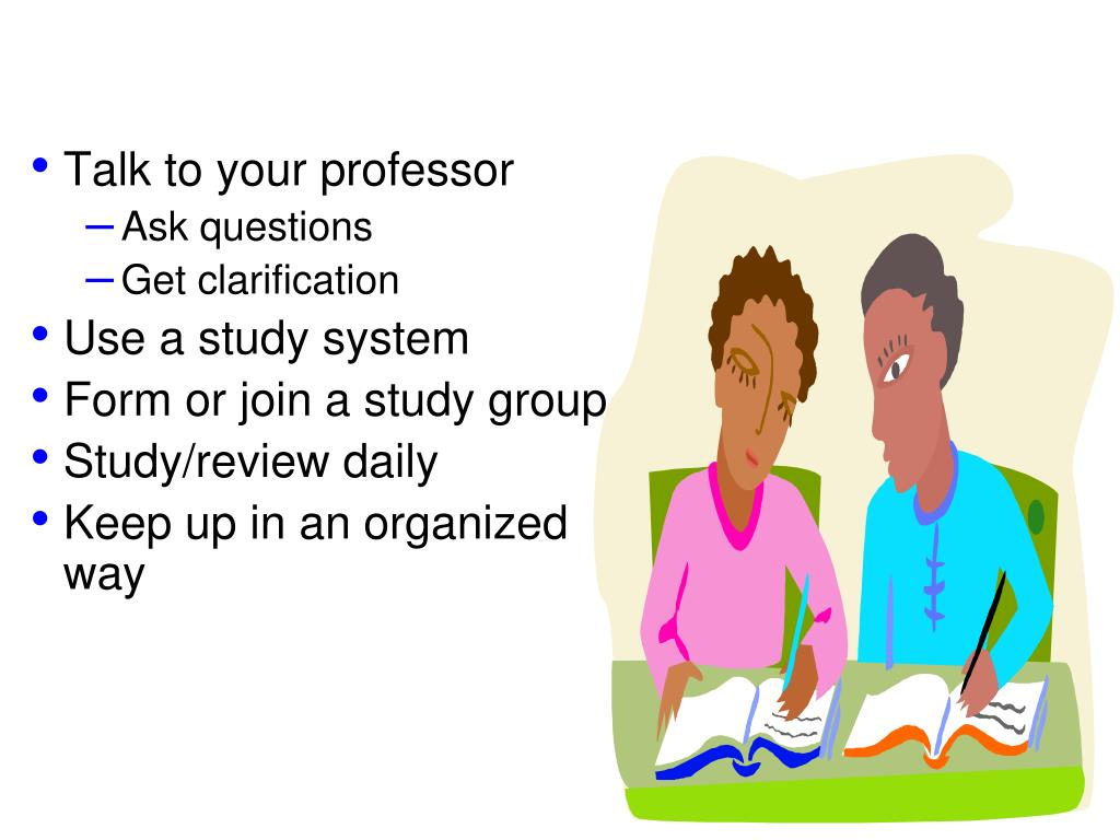 Talk to your professor