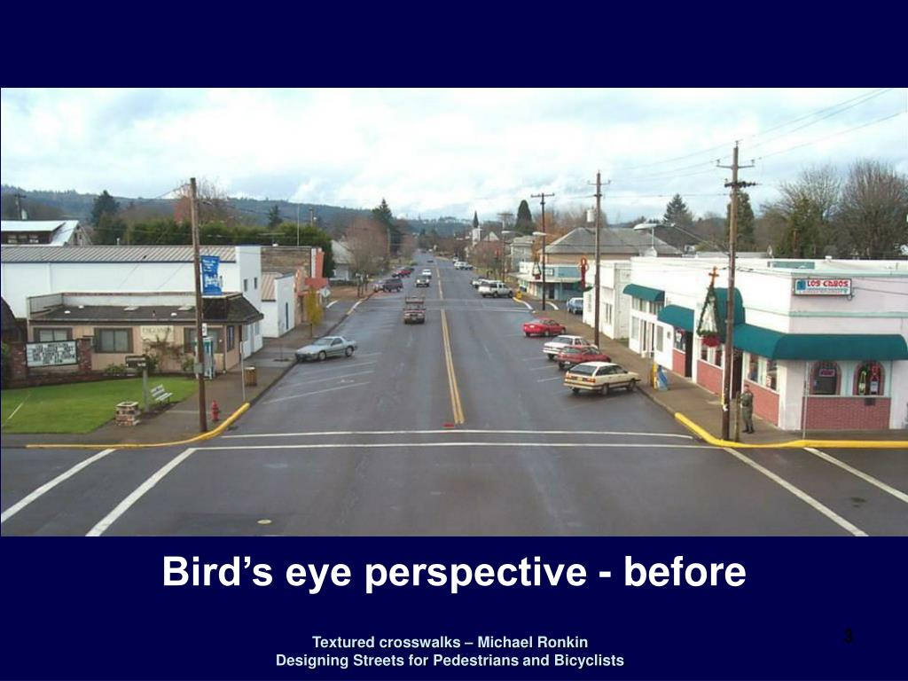 Bird's eye perspective - before