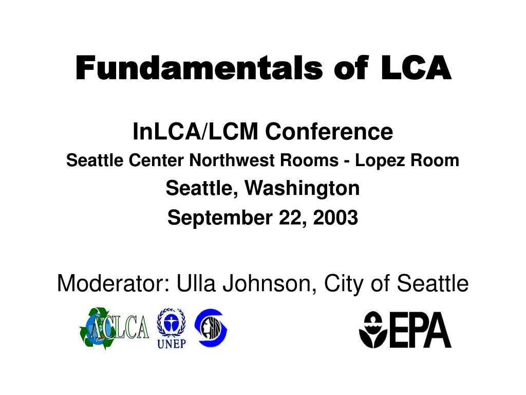 fundamentals of lca l.