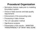 procedural organization