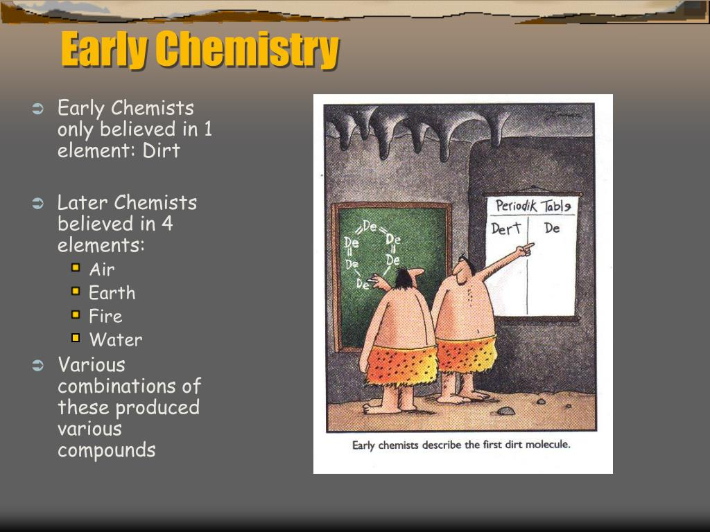 early chemistry