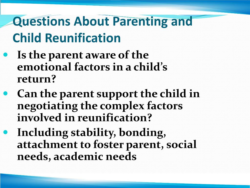 Questions About Parenting and