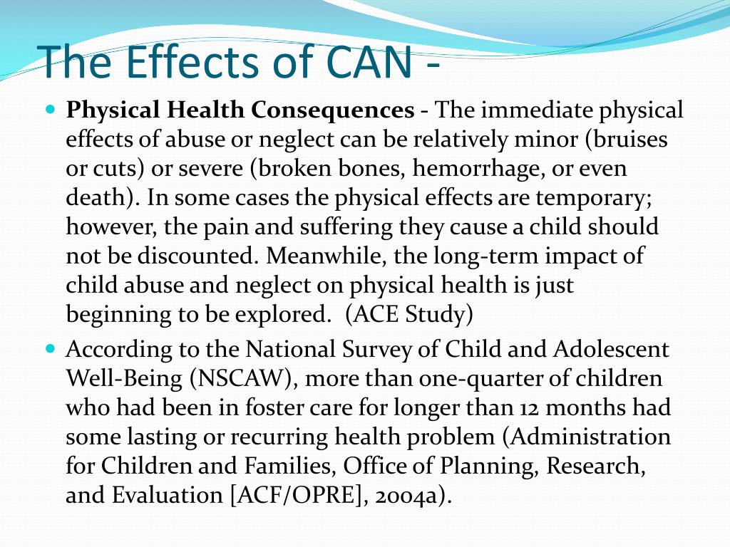 The Effects of CAN -
