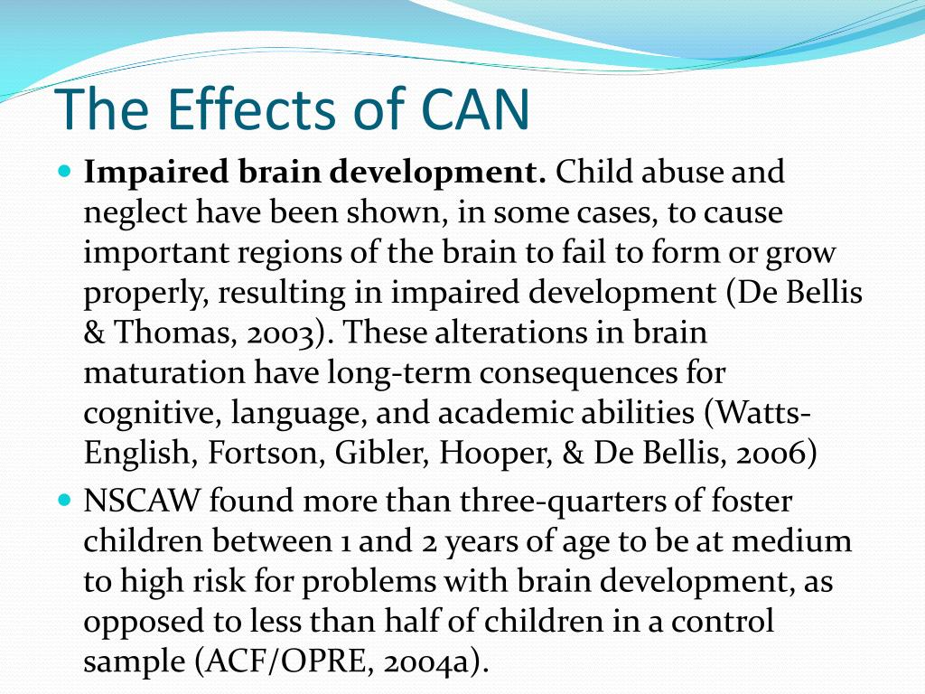 The Effects of CAN