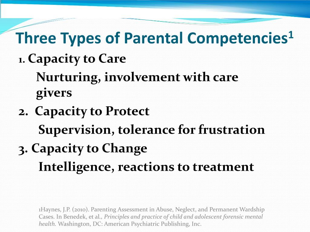Three Types of Parental Competencies