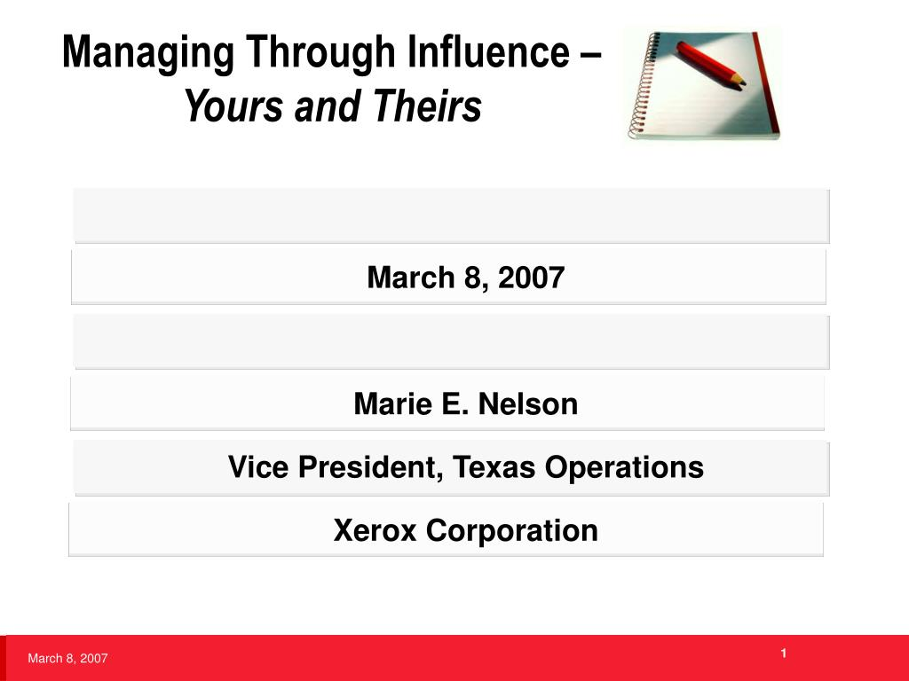 managing through influence yours and theirs l.