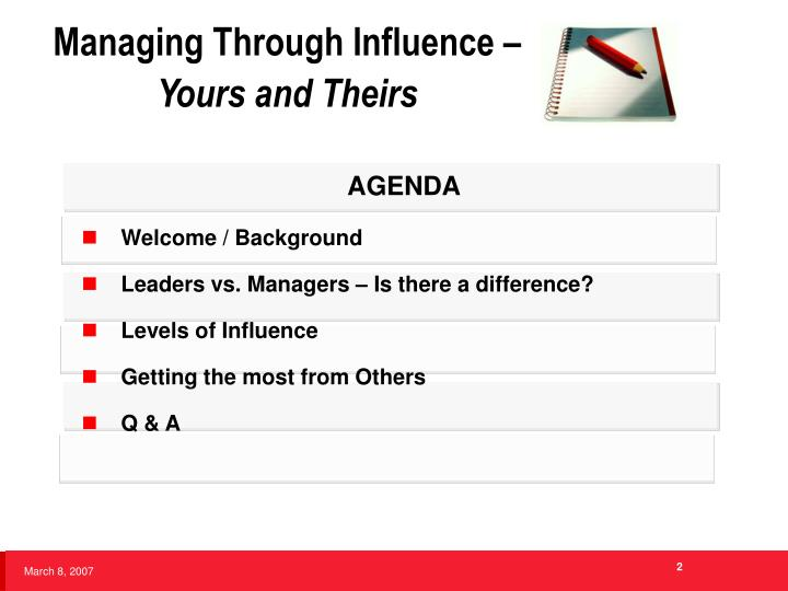 Managing through influence yours and theirs2