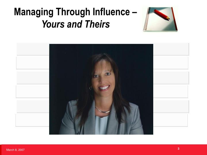 Managing through influence yours and theirs3