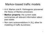 markov based traffic models
