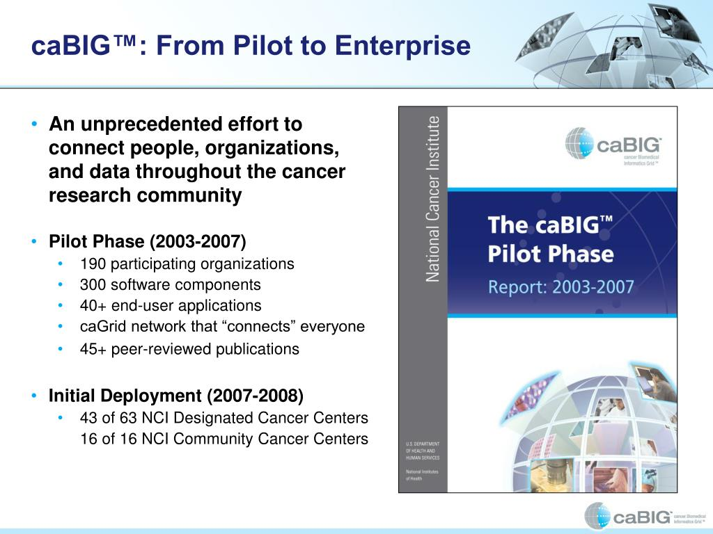 caBIG™: From Pilot to Enterprise