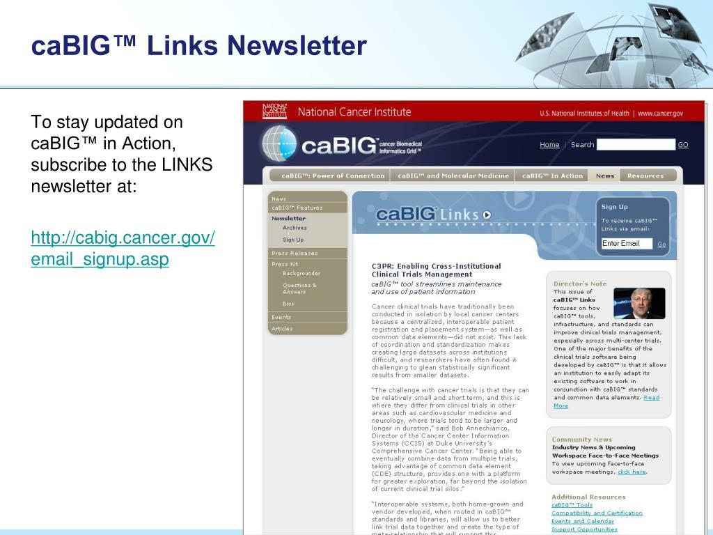 caBIG™ Links Newsletter