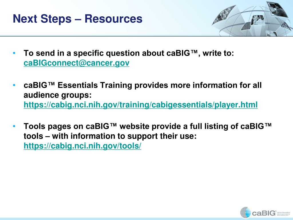 Next Steps – Resources