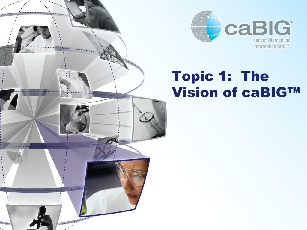 Topic 1:  The Vision of caBIG™