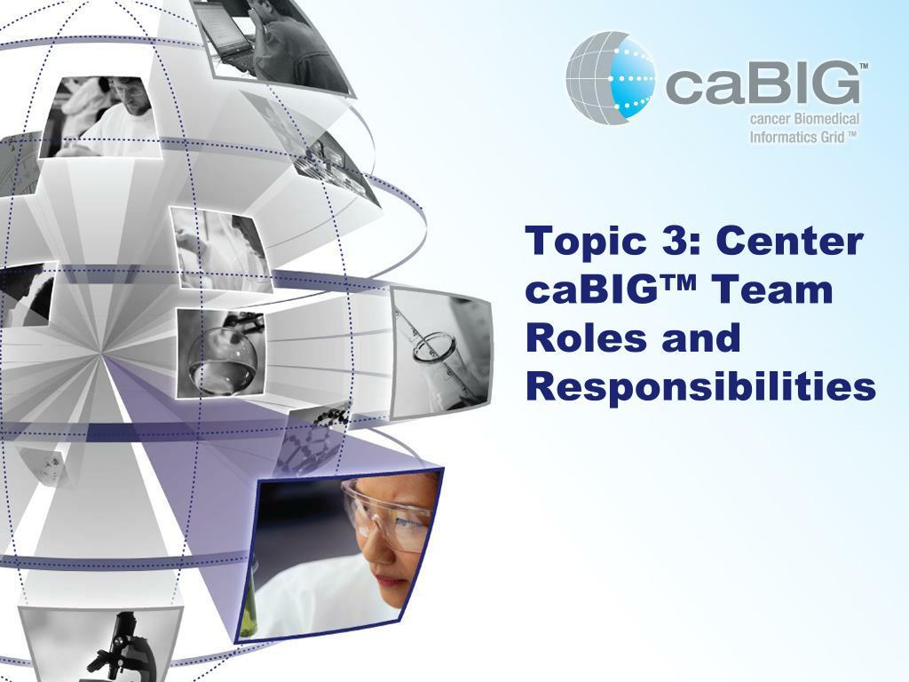 Topic 3: Center caBIG™ Team
