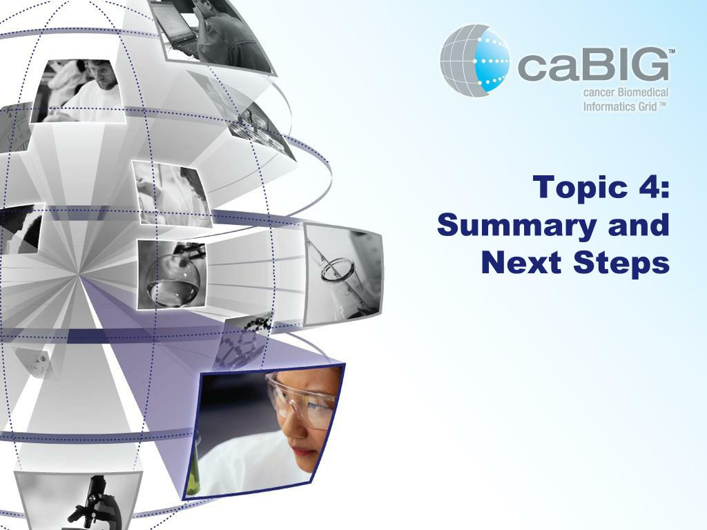 Topic 4: Summary and Next Steps