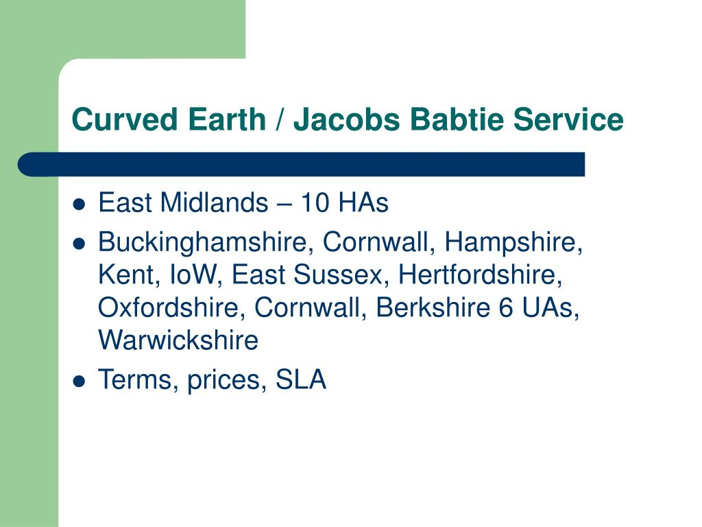Curved Earth / Jacobs Babtie Service