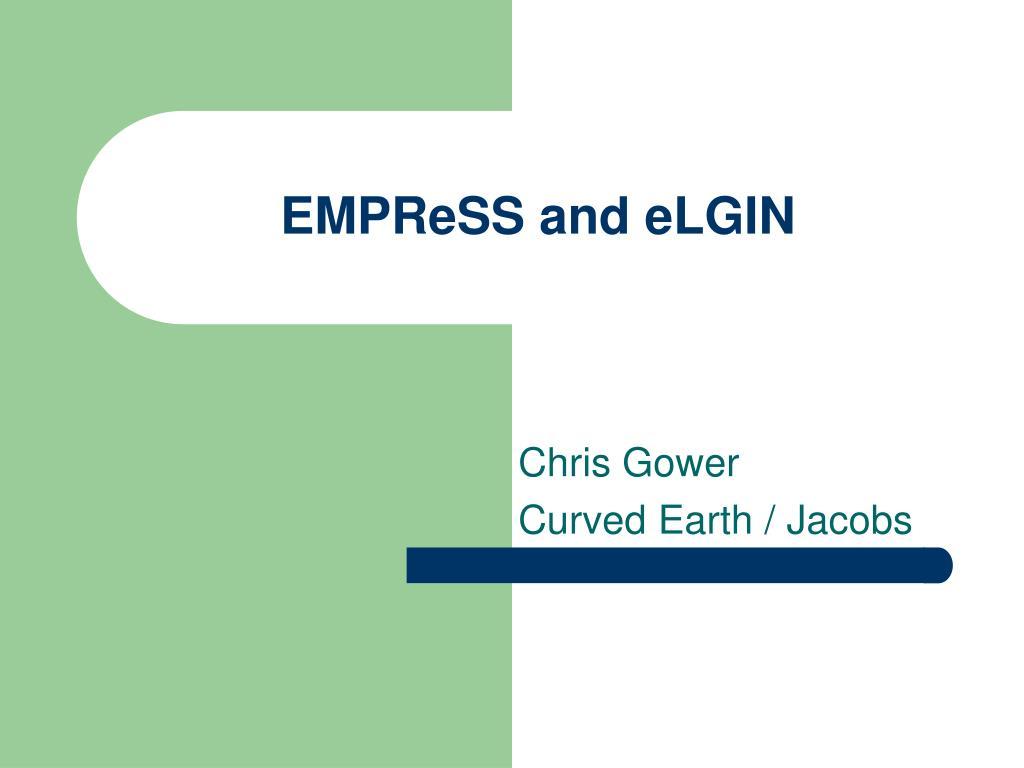 EMPReSS and eLGIN