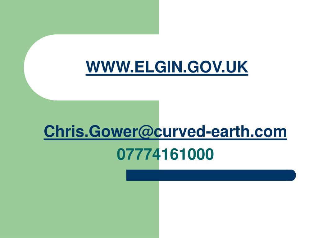 WWW.ELGIN.GOV.UK