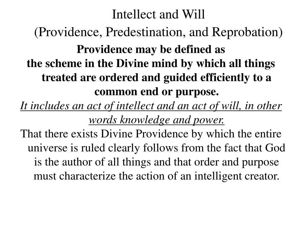 Intellect and Will