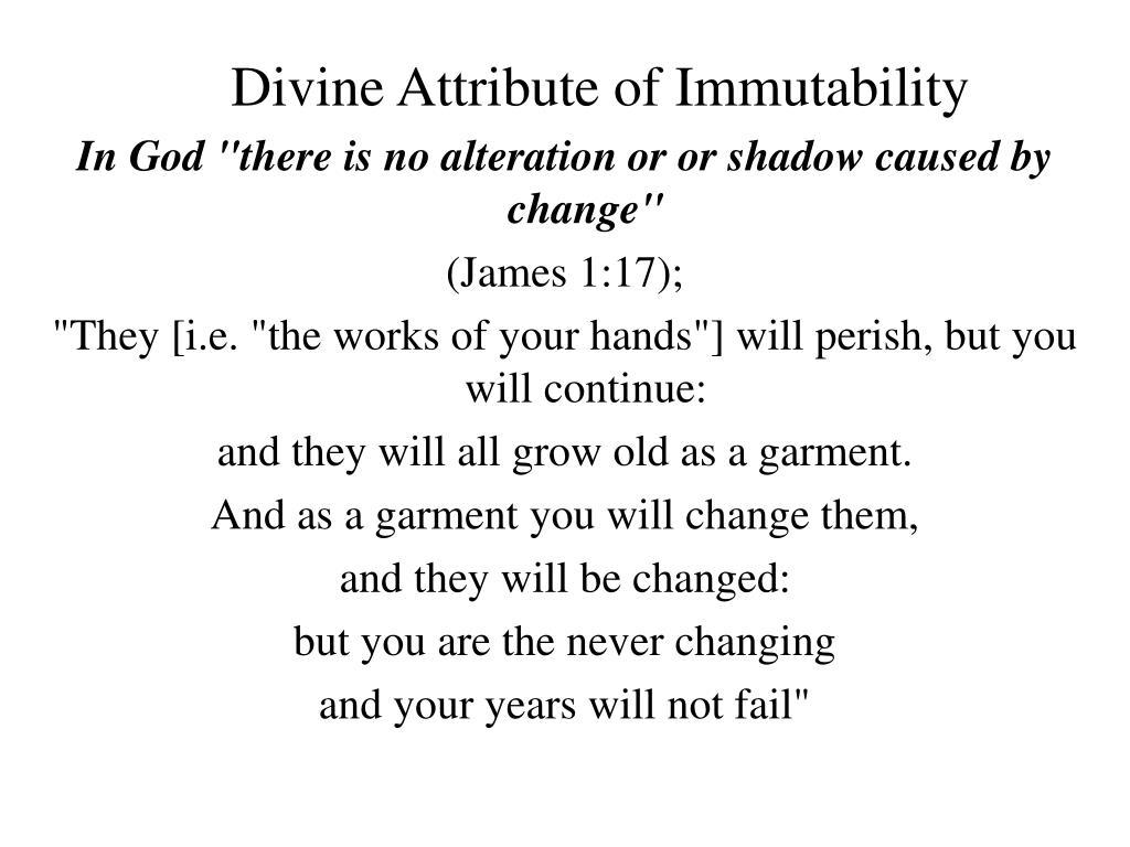 Divine Attribute of Immutability
